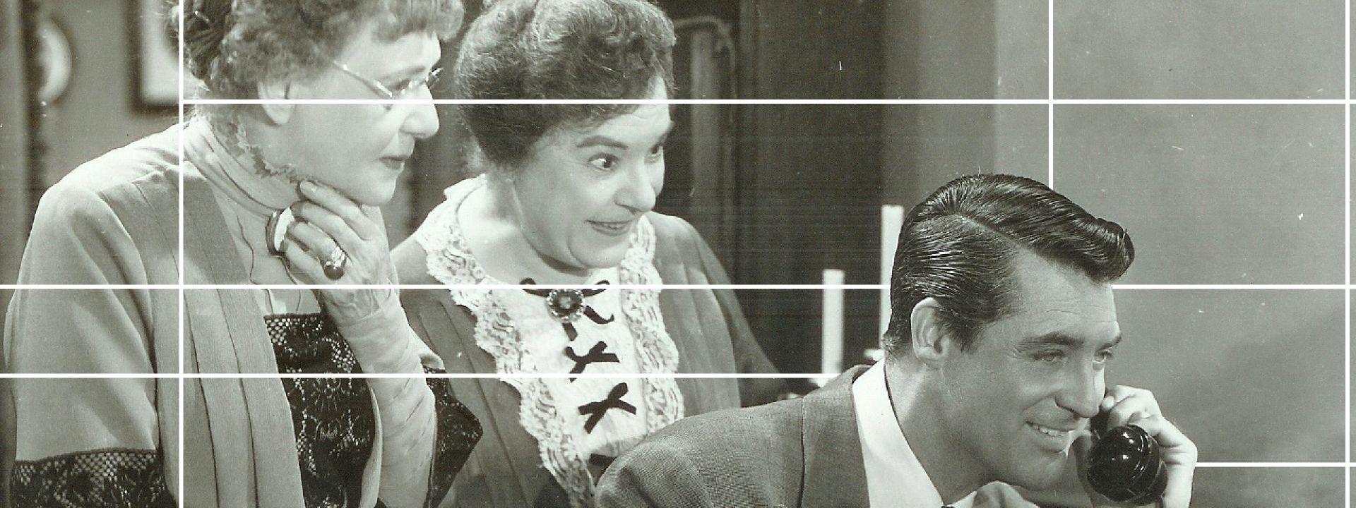 """Εικαστικό με στιγμιότυπα από την ταινία """"Αρσενικό και Παλιά Δαντέλα"""""""