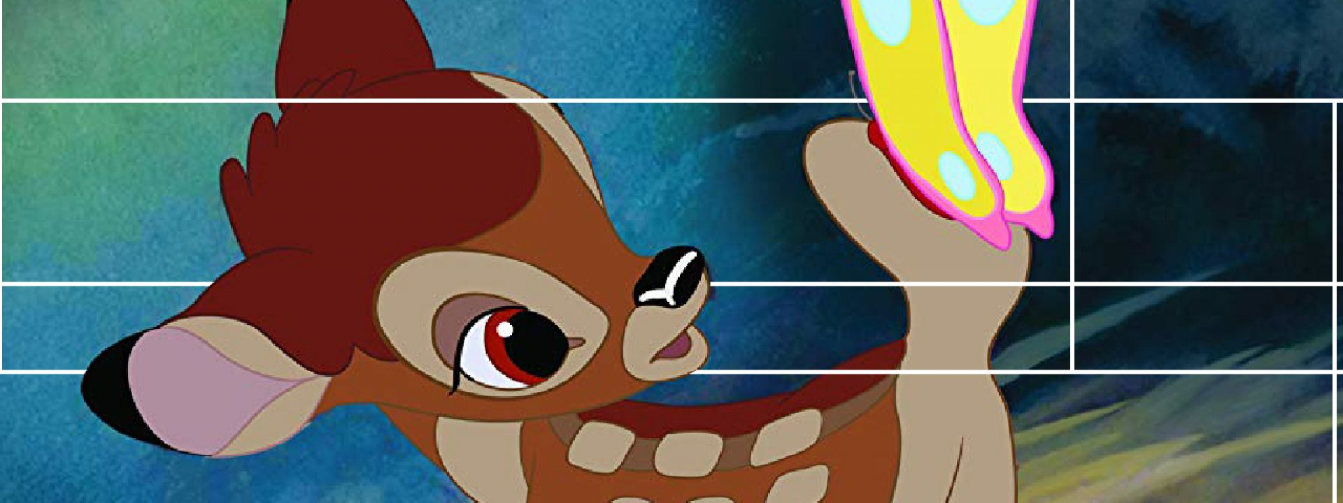 "Secne from the movie: "" Bambi """