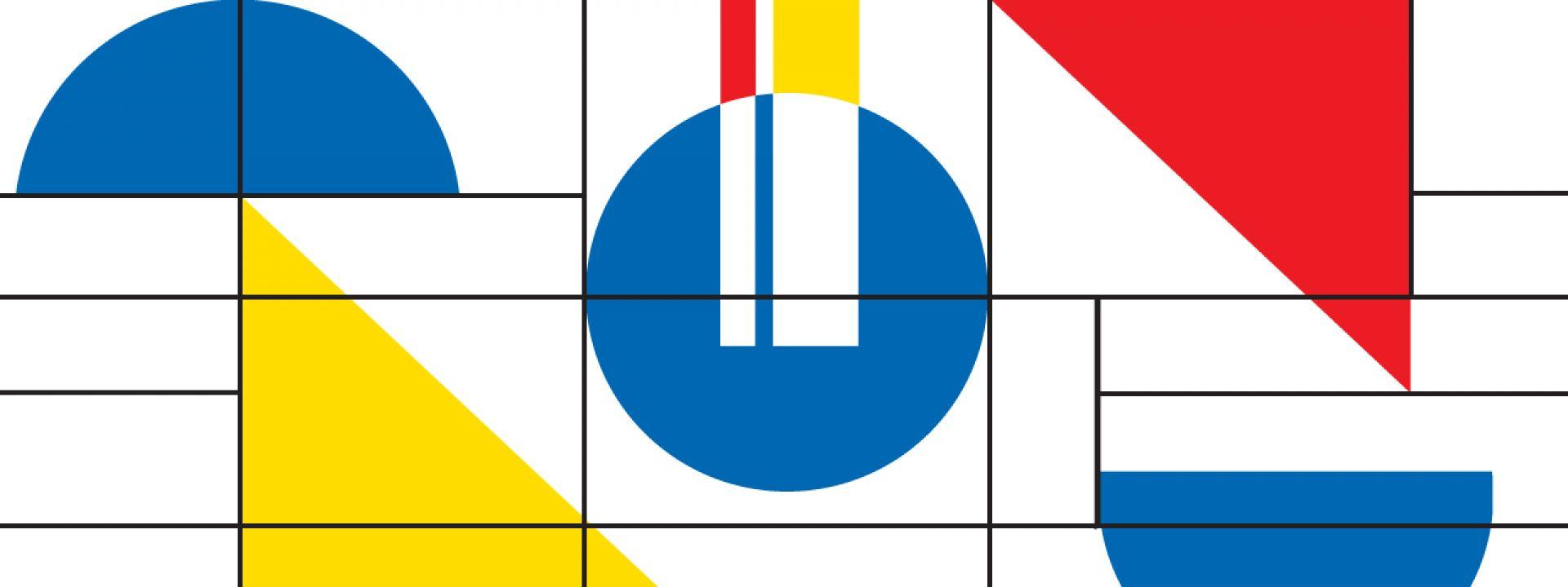 Δημιουργικό για τα εργαστήρια για οικογένειες με αφορμή το Bauhaus στα 100