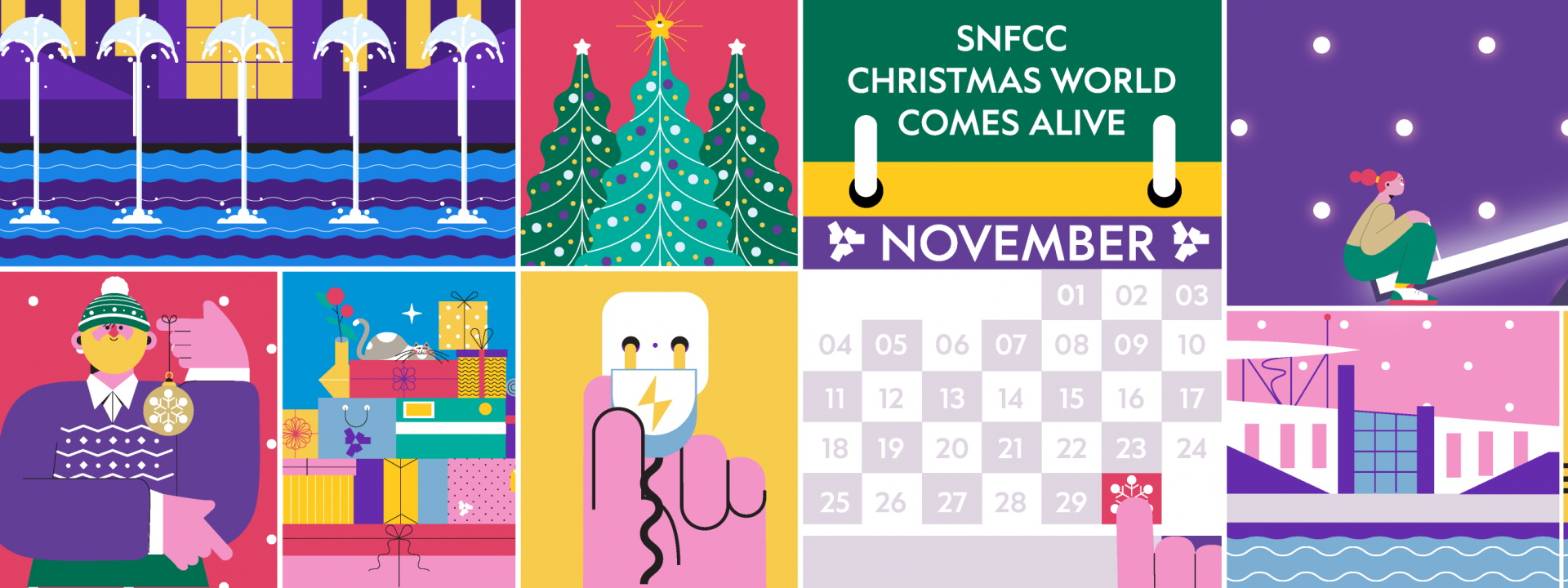 Visual for the SNFCC Christmas World