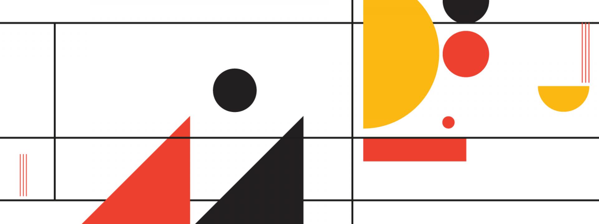 Εικαστικό με έντονα, ευφάνταστα χρώματα και γεωμετρικά σχήματα για τις ηχογραφημένες συναυλίες της σειράς Jazz Chronicles
