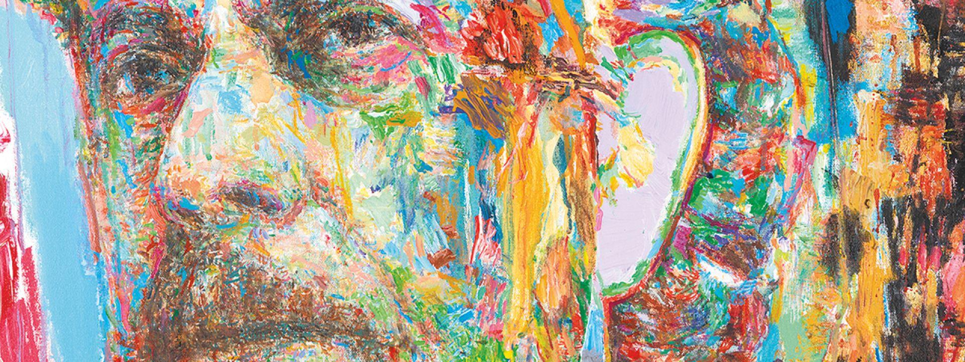 Πορτρέτο του Γιάννη Ρίτσου - Έργο του Γ. Ψυχοπαίδη