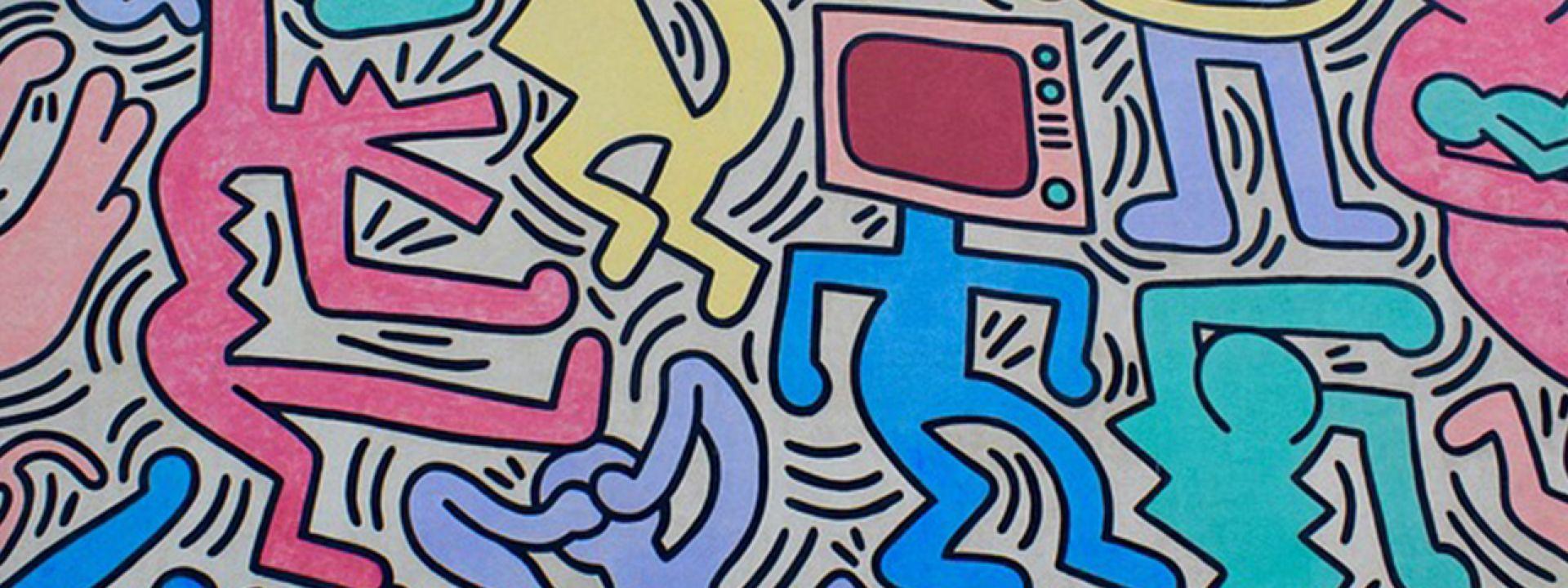 Εικαστικό εμπνευσμένο από τη δουλειά του Keith Haring
