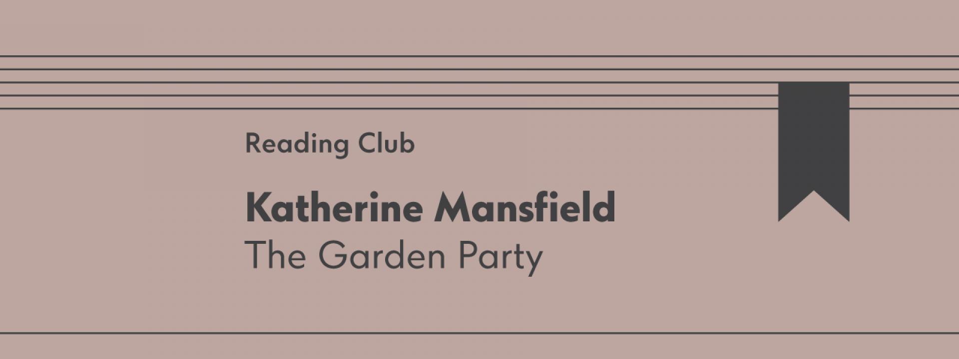 Reading Club: The Garden Party - Εικόνα