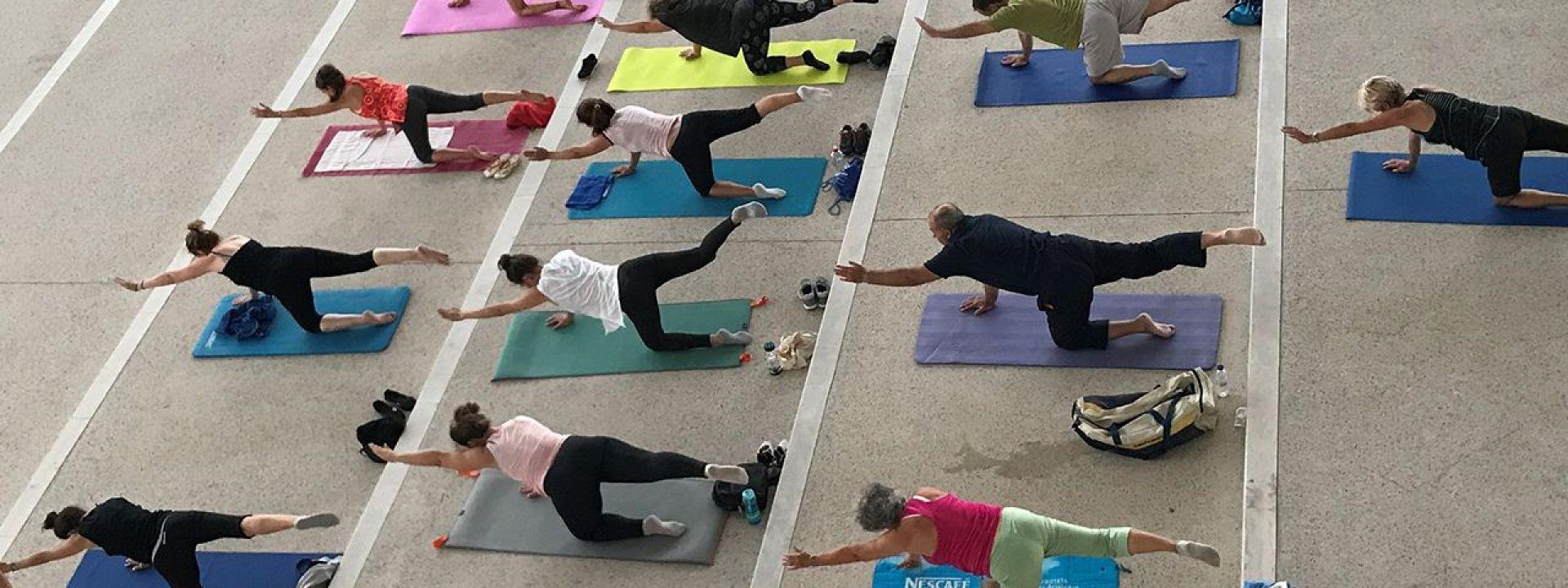 Φωτογραφία από το βασικό μάθημα Mat Pilates