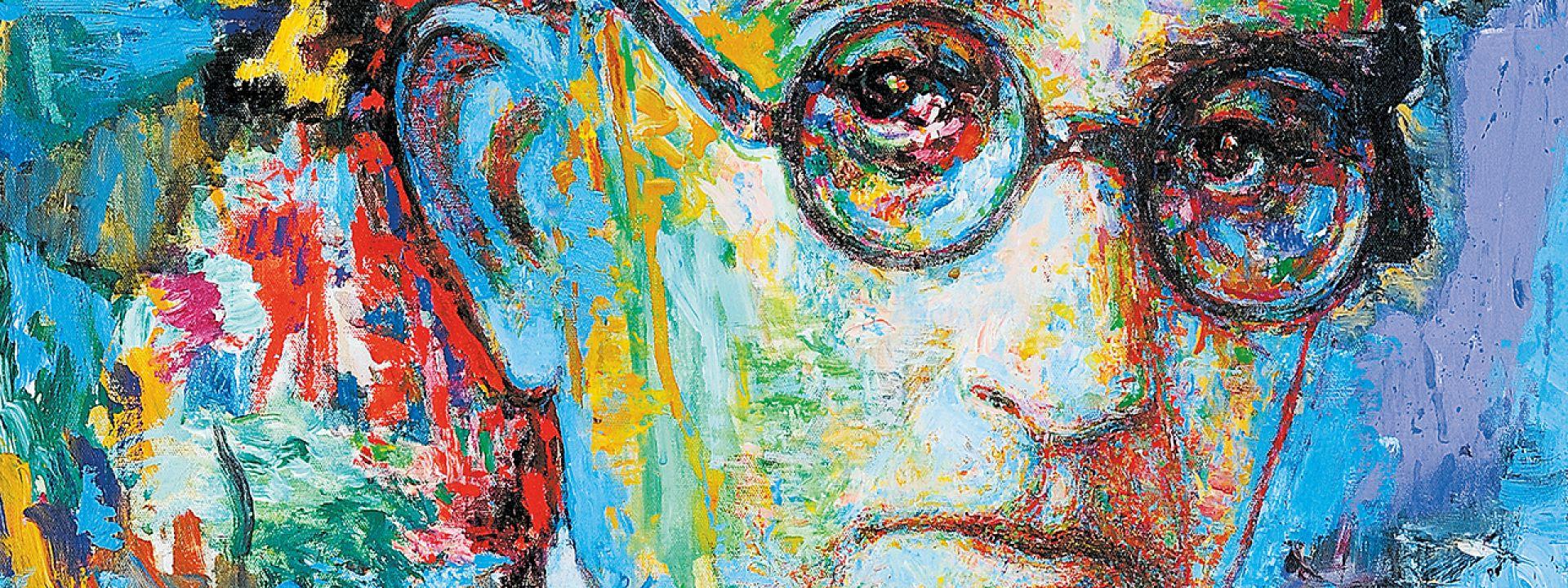Φωτογραφία από πορτρέτο του Καβάφη, δημιουργία του Γιάννη Ψυχοπαίδη