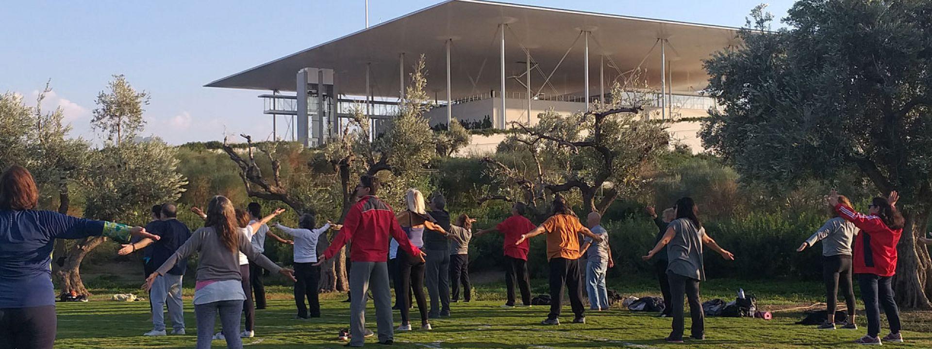 Φωτογραφία από ασκήσεις Qigong στο Πάρκο Σταύρος Νιάρχος