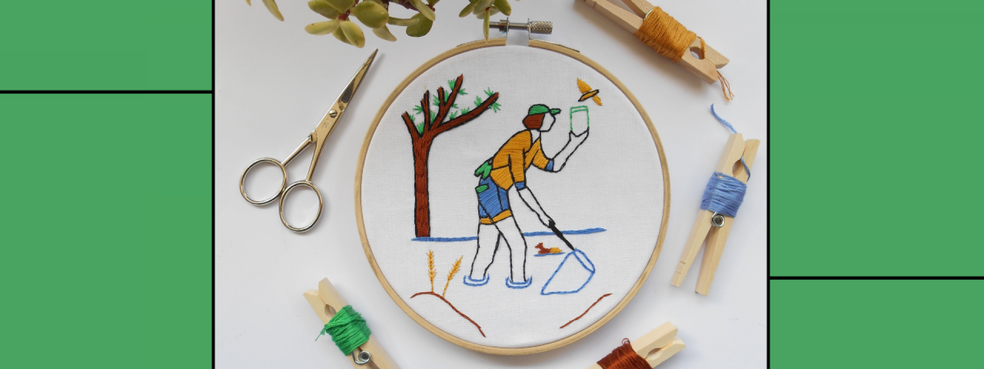 Creative Embroidery: Eminent personalities - April - Εικόνα