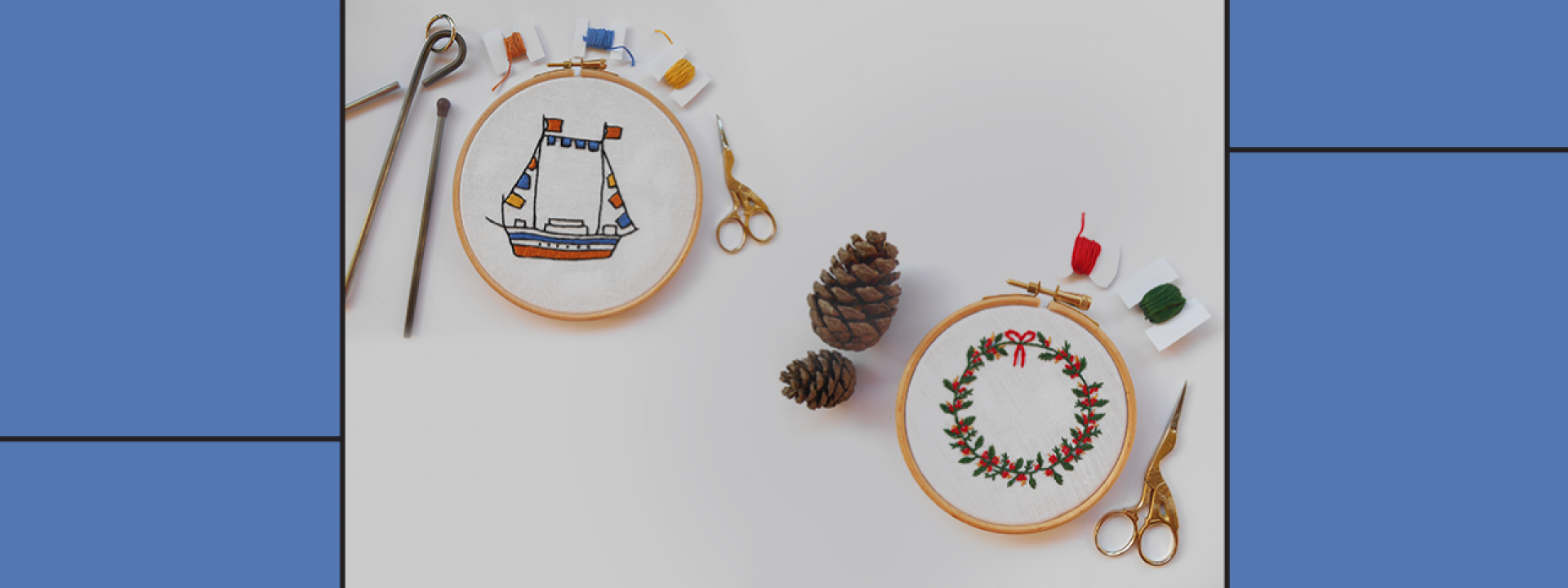 Creative Embroidery: Christmas stitches at the SNFCC - Εικόνα