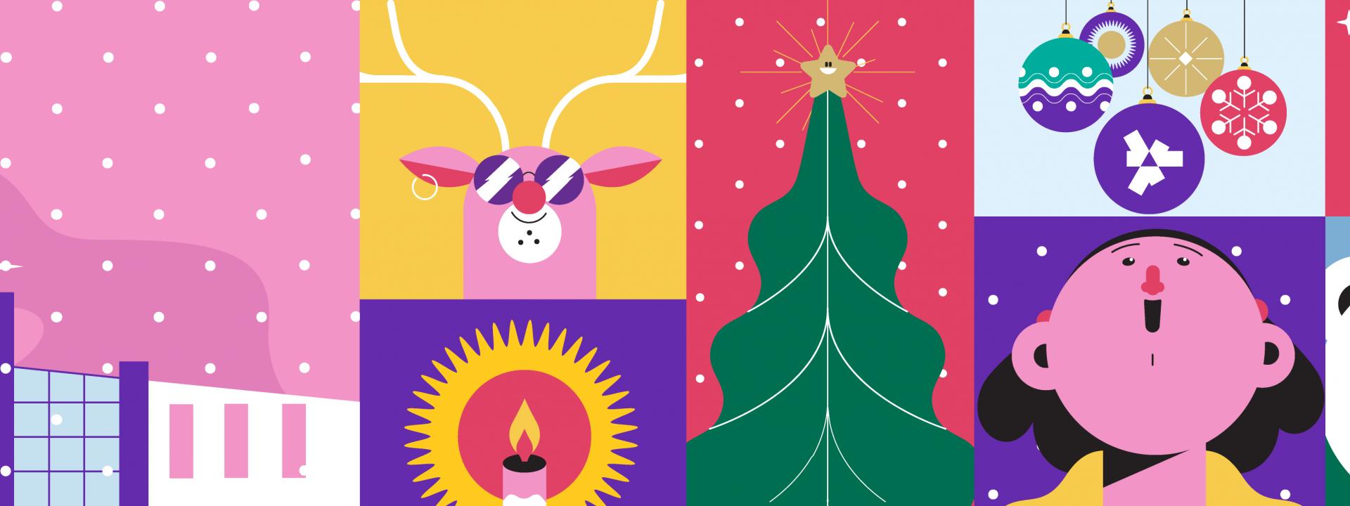 Εικαστικό για τη χριστουγεννιάτικη δραστηριότητα του ΚΠΙΣΝ, Μαγικές Εικόνες