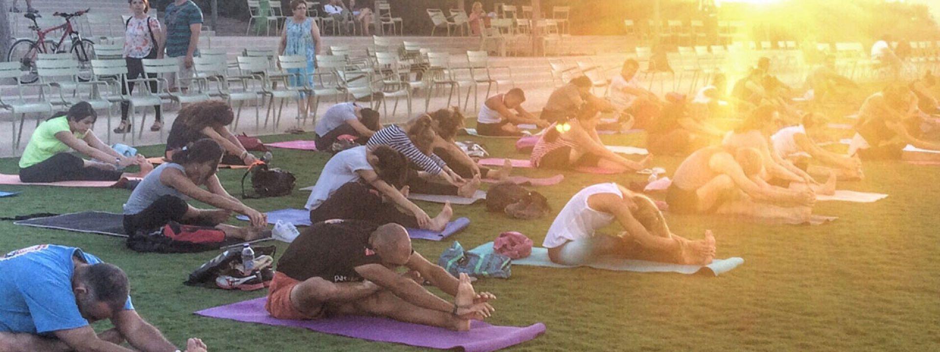 Φωτογραφία από μάθημα yoga στο Πάρκο Σταύρος Νιάρχος