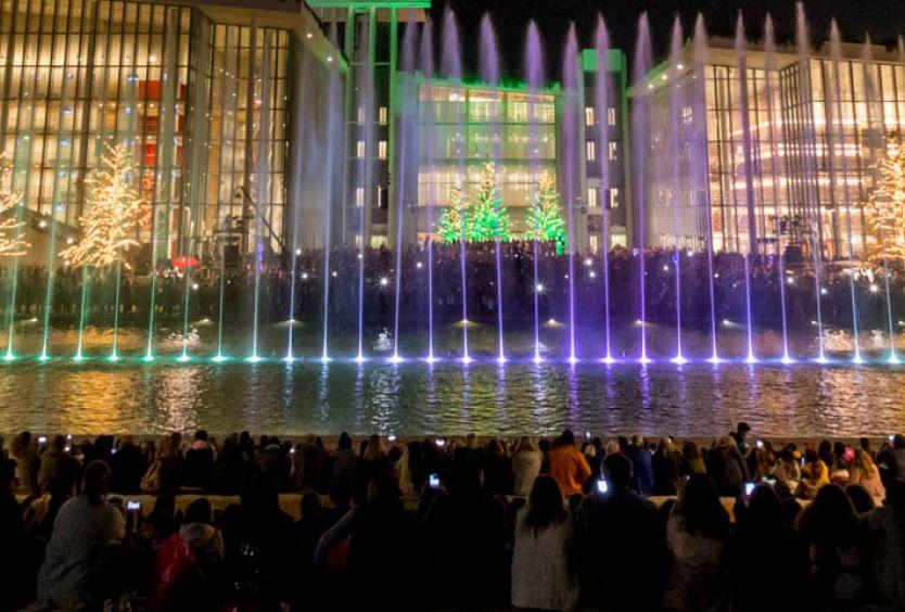 Φωτογραφία από τα Χορογραφημένα Σιντριβάνια στο Κανάλι