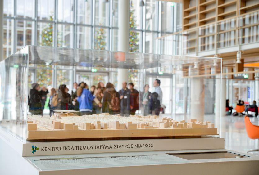 Φωτογραφία μακέτας του Κέντρου Πολιτισμού Ίδρυμα Σταύρος Νιάρχος