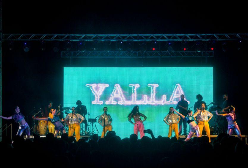 Φωτογραφία απο τη συναυλία του συγκροτήματος Yalla 2.0