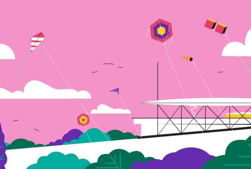 creative with kites