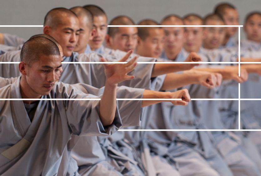 Φωτογραφία με σαολίν μοναχούς