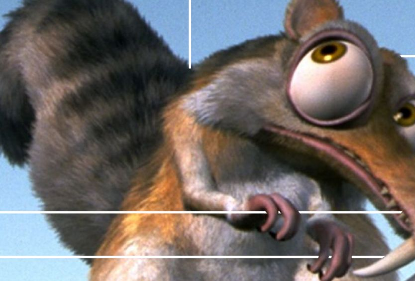 "Secne from the movie: "" Ice Age """