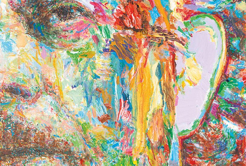 Φωτογραφία από πορτρέτο ποιητή, δημιουργία του Γιάννη Ψυχοπαίδη