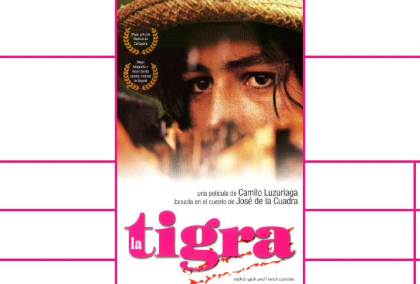 Εικαστικό για την ισπανόφωνη ταινία Η τίγρη