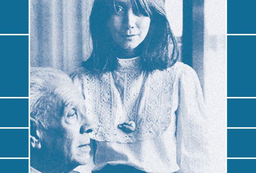 Φωτογραφία του συγγραφέα Χόρχε Λουίς Μπόρχες και της συγγραφέως και μεταφράστριας Μαρίας Κοδάμα
