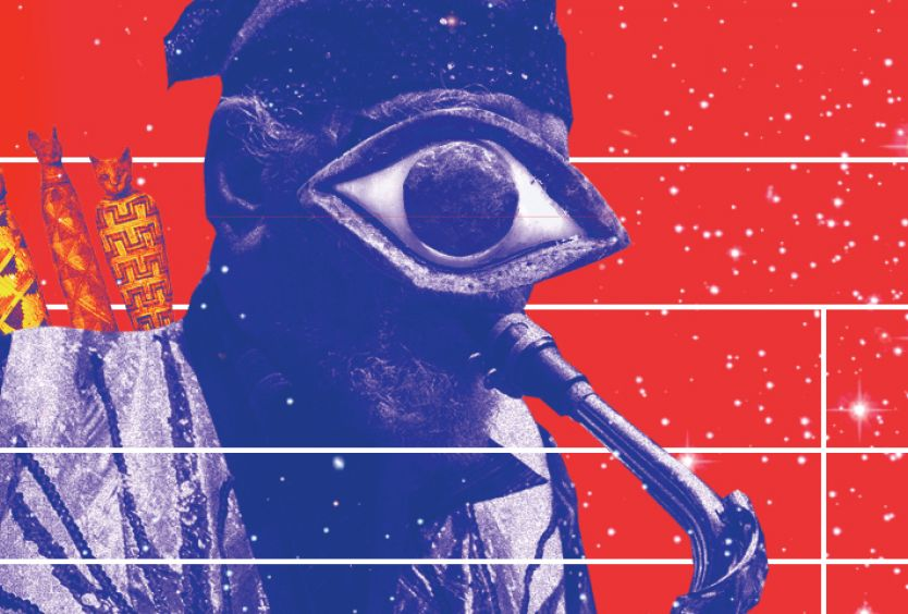 Visual for the concert of Sun Ra Arkestra