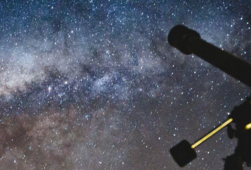 Φωτογραφία από τηλεσκόπιο για την παρατήρηση των αστεριών και των πλανητών