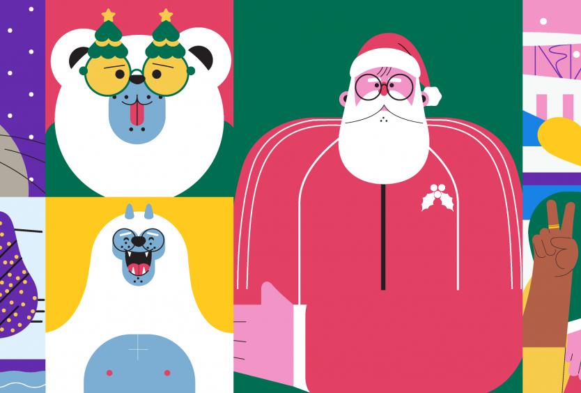 Εικαστικό για τη χριστουγεννιάτικη δραστηριότητα του ΚΠΙΣΝ, Christmas Games