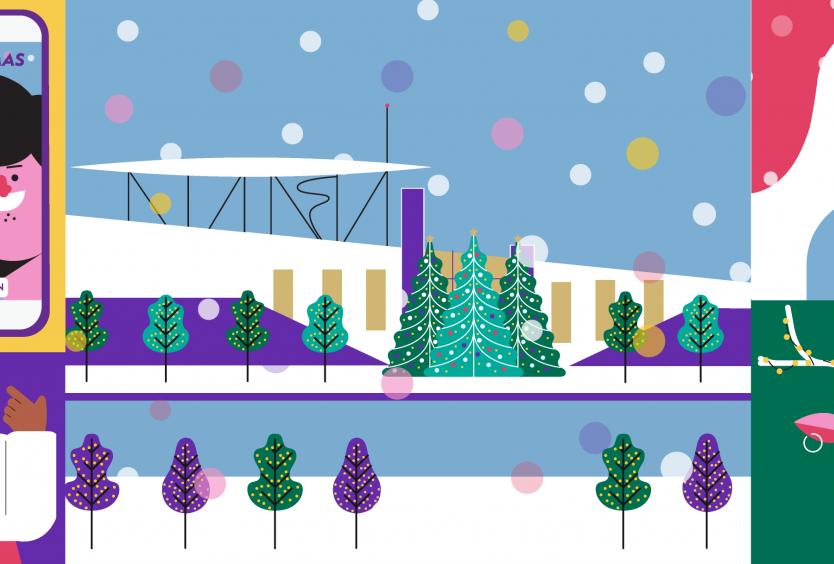 Δημιουργικό για την εκδήλωση Christmas Magic Bubble Show