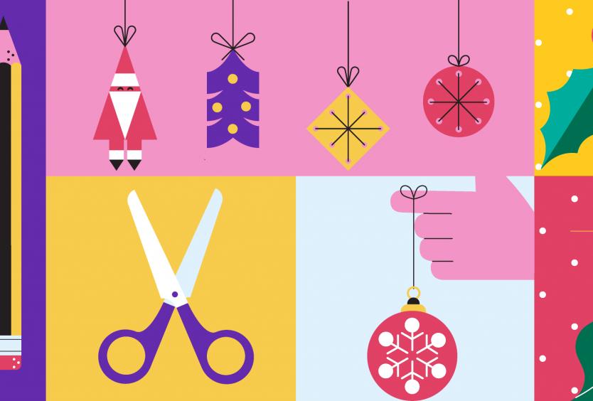 Δημιουργικό για το εργαστήριο Δημιουργούμε όλοι μαζί τέχνη: Χριστουγεννιάτικα Στολίδια