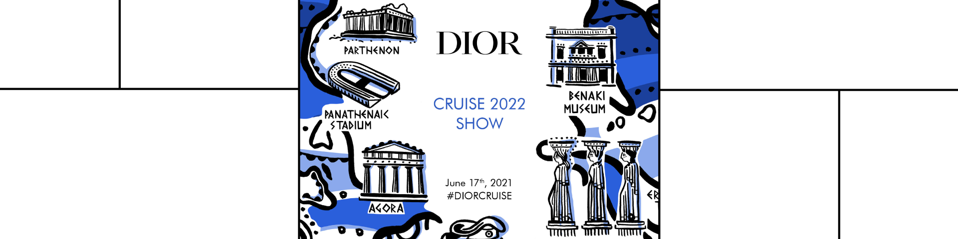 Live broadcasting of the Dior cruise 2022 fashion show - Εικόνα