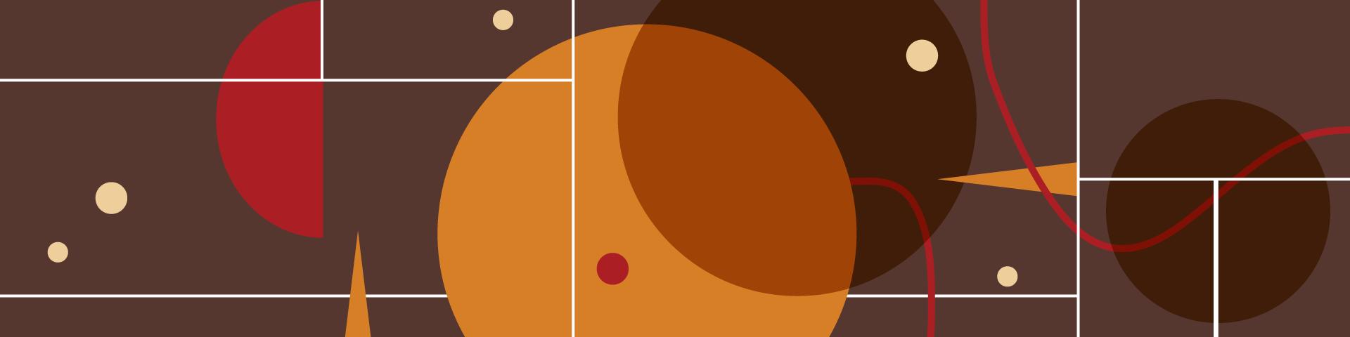 Εικαστικό με γεωμετρικά σχήματα για τη συναυλία Jazz Baroque στο πλαίσιο της σειράς Jazz Chronicles του ΚΠΙΣΝ