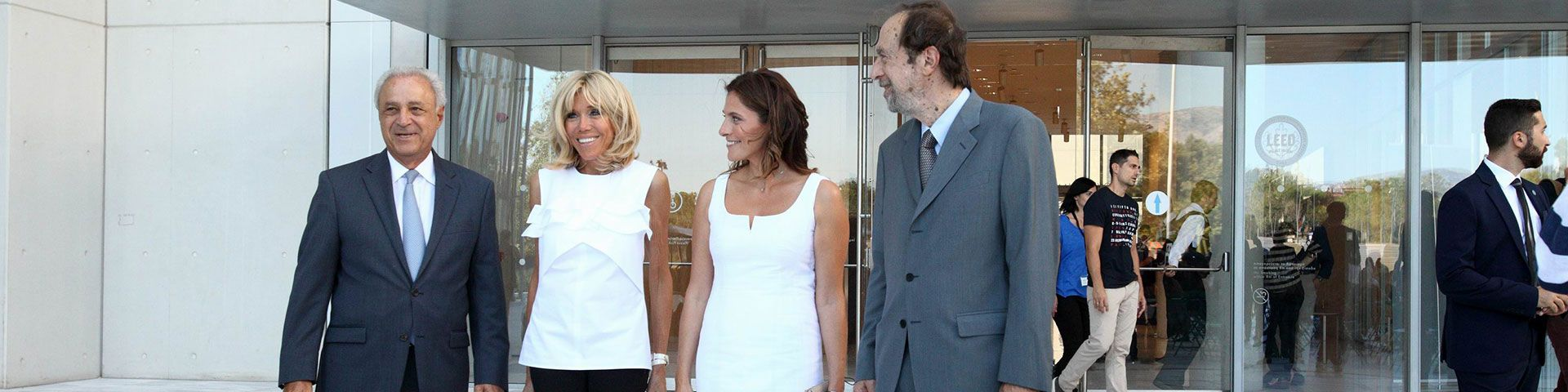 Highlights from the visit of Ms Betty Baziana and Ms Brigitte Macron at SNFCC - Εικόνα