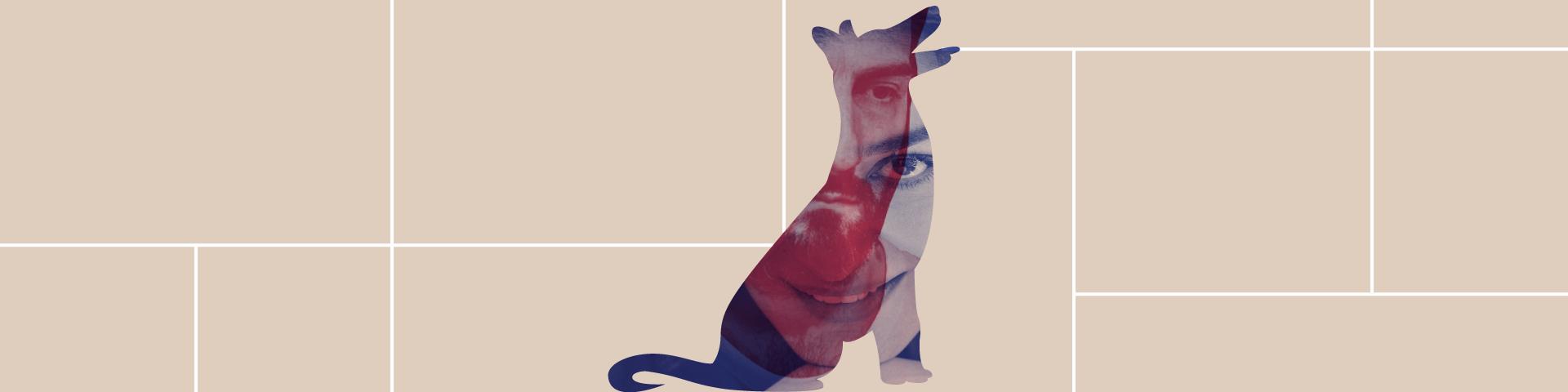 Εικαστικό για το έργο του Τσέχωφ Η Κυρία με το Σκυλάκι που παρουσιάζεται στις Παραβάσεις του ΚΠΙΣΝ