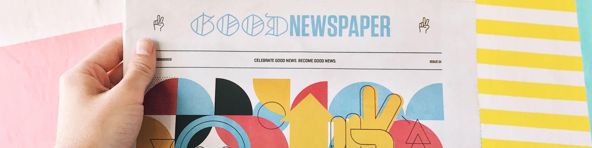 Φωτογραφία που απεικονίζει μία πολύχρωμη εφημερίδα
